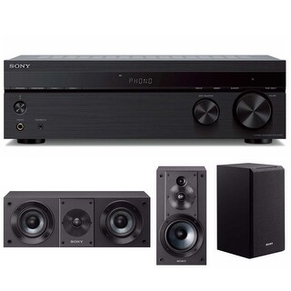 Sony STRDH190 2-ch Stereo Receiver (Phono/Bluetooth) with Two Speaker Systems - black