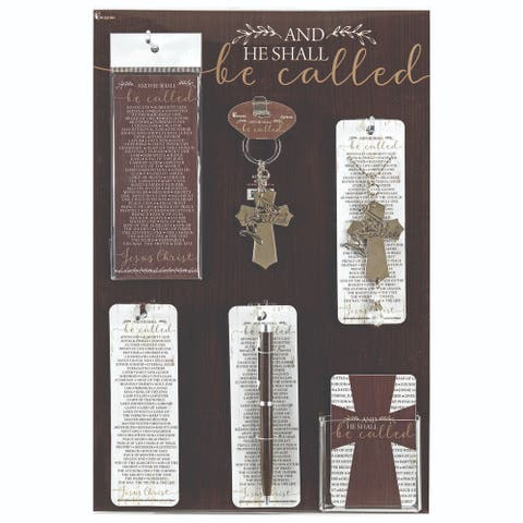 "15.75"" Brown and White Name of Jesus Display and Assortment Board"