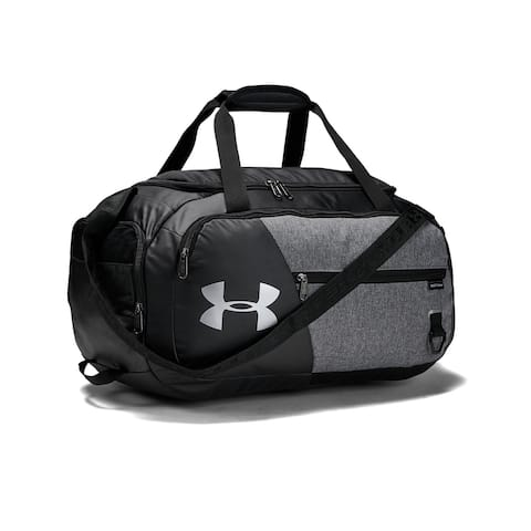 Under Armour Unisex Undeniable Duffle 4.0 Gym Bag, Graphite Medium Heather/Black, Small - S