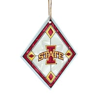 Iowa State Cyclones Art Glass Ornament