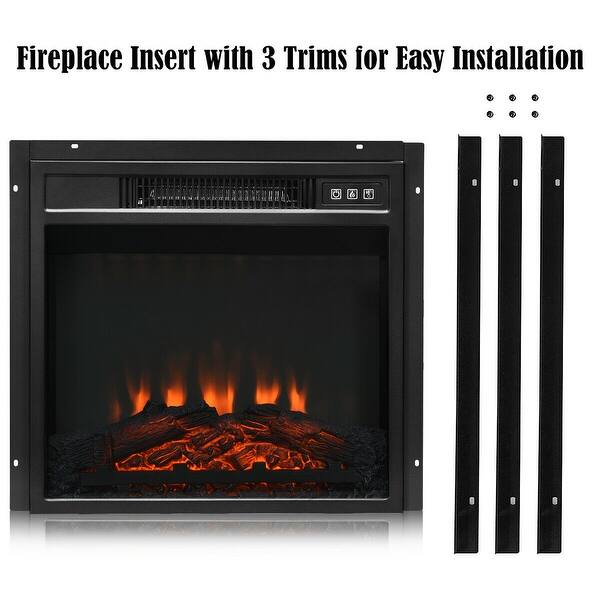 Shop Gymax 18 Electric Fireplace Freestanding Wall Mounted