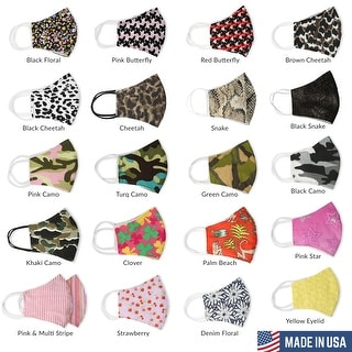 Link to Fabric Face Mask Reusable Washable Filter Pocket Nose Wire Cloth Face Mask Similar Items in Scarves & Wraps