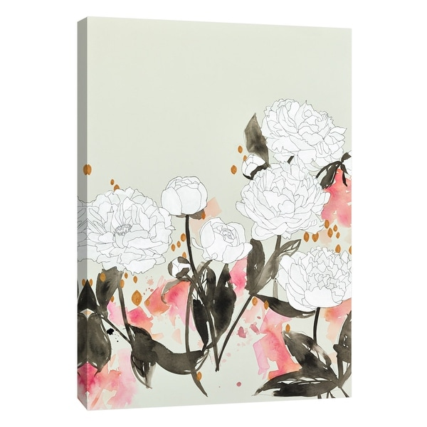 "PTM Images 9-105412 PTM Canvas Collection 10"" x 8"" - ""Alabaster Garden 2"" Giclee Flowers Art Print on Canvas"