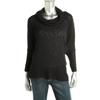FP Beach Womens Cowl Neck Open Back Pullover Sweater