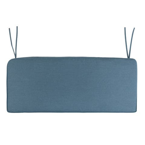 Outdoor Folding Seat/Back Chair Cushion Blue and Gray