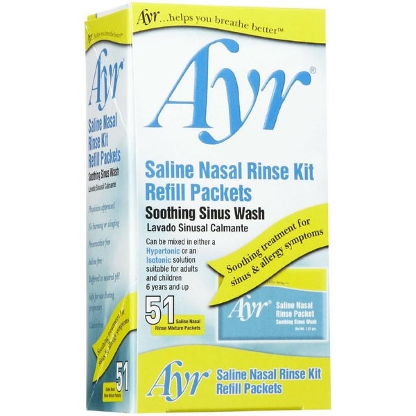 Ayr Sinus Rinse Kit Refill Packets 51 Each