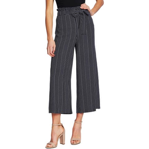 CeCe Womens Dress Pants Palazzo Polka Dot - Caviar - M