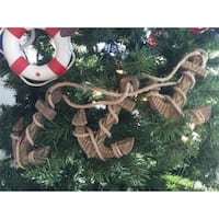 7 in. Wooden Rustic Decorative Triple Anchor Christmas Ornament Set