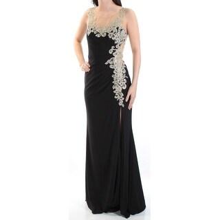 Womens Black Full-Length Sheath Evening Dress Size: 6
