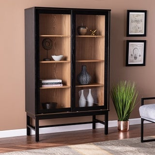 Link to The Grey Barn Halbrent Modern Farmhouse Black Cabinet Similar Items in Dining Room & Bar Furniture