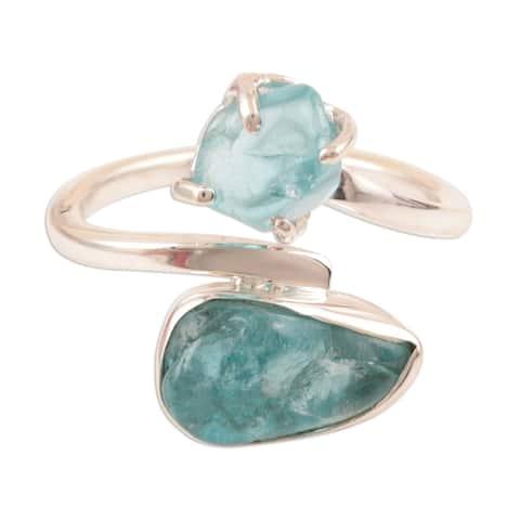 NOVICA Nuggets, Apatite wrap ring