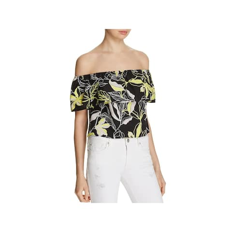 Splendid Womens Pullover Top Ruffled Floral Print - S