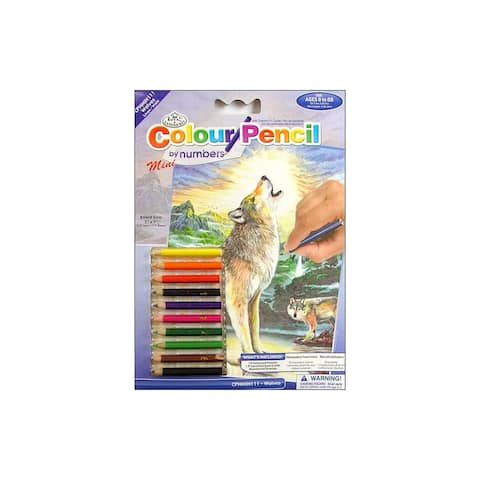 Royal Color Pencil By Number Mini Wolf
