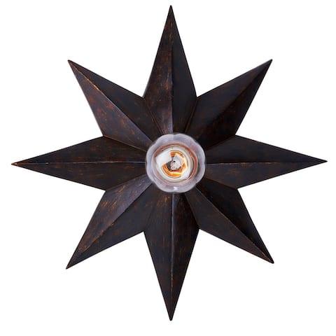 Astro 1 Light Bronze Sconce - 12'' W x 12'' H x 3'' D - 12'' W x 12'' H x 3'' D