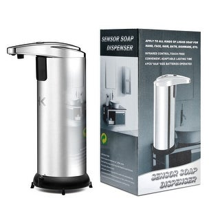 Image Automatic Touchless Soap Dispenser No Touch Liquid Sensor Stainless  Steel Dispenser W/ Base 250ml