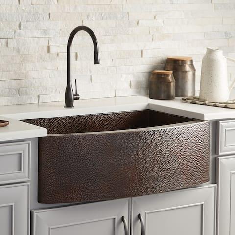 "Rhapsody Apron Front Kitchen Sink in Antique - 33"" x 20.5"" x 10.25"""