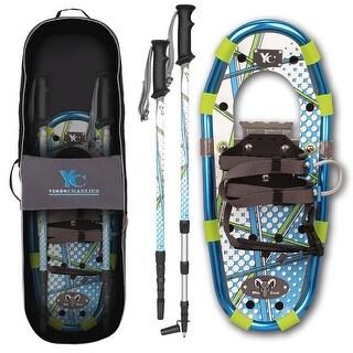 Yukon charlie's junior aluminum snowshoe kit 7x16 blu