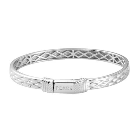 950 Platinum Bond Copper Bangle Cuff Statement Bracelet 7.25 Inches - Bracelet 7.25''