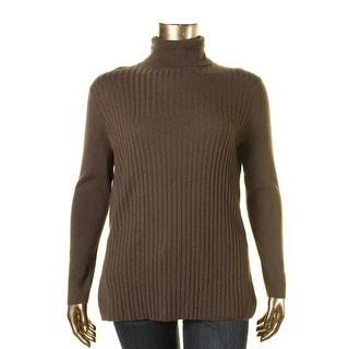 Lafayette 148 Womens Cashmere Ribbed Turtleneck Sweater