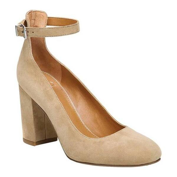 a72bef8b4ee Sarto by Franco Sarto Women s Abbington Ankle Strap Pump Dark Sand Leather  ...
