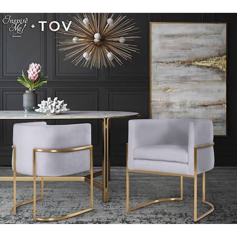 Giselle Grey Velvet/Gold Frame Dining Chair