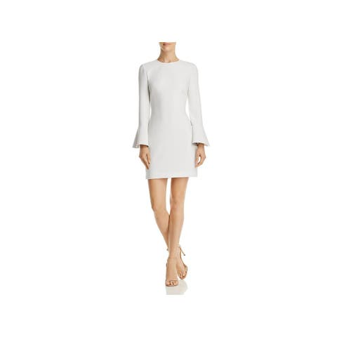 Elizabeth and James Womens Romy Scuba Dress Bell Sleeves Mini
