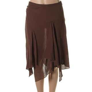 Catherine Malandrino Womens Gauze Textured Asymmetrical Skirt - 2