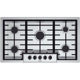 Bosch NGM5655UC 36 Inch Gas Cooktop with Automatic Electronic Re-Ignition