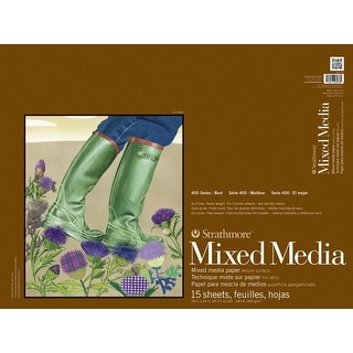 Strathmore 400 Series Mixed Media Pad, 18 x 24 in, 15 Sheets