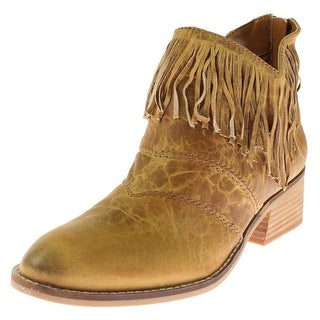 Two Lips Womens Darci Ankle Boots Leather Fringe