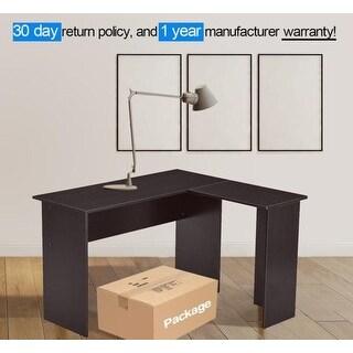 Mcombo L Shaped Desk Corner Desk Home Office Workstation 7191 Black