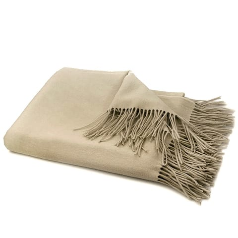STP-Goods Bisque Cashmere & Wool Throw Blanket