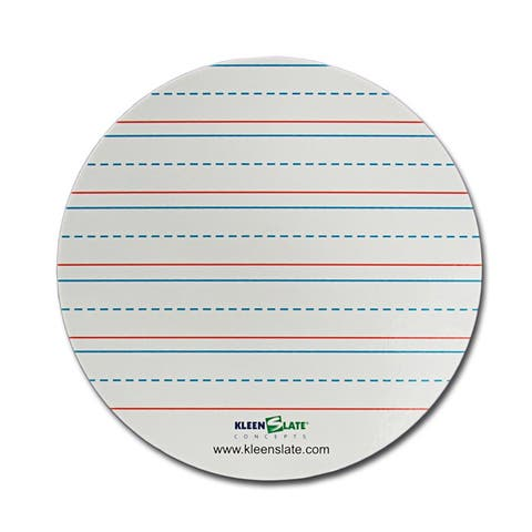 Kleenslate circles handwriting lined 71436