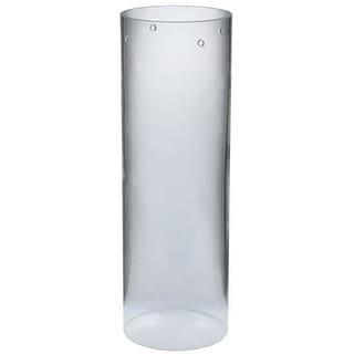 "Meyda Tiffany 115316 4"" W X 12"" H Cylinder Clear Replacement Shade"