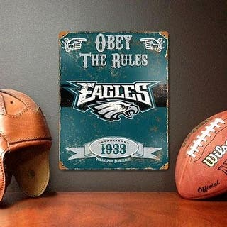 Party Animal Nfl Embossed Metal Vintage Philadelphia Eagles Sign|https://ak1.ostkcdn.com/images/products/is/images/direct/33629607f3e6e78ad1f49eb8fa47121834759fd5/Party-Animal-Nfl-Embossed-Metal-Vintage-Philadelphia-Eagles-Sign.jpg?impolicy=medium