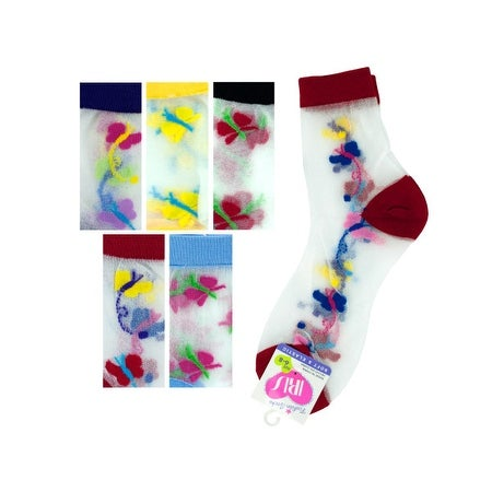High Cut Butterfly Socks - Pack of 36