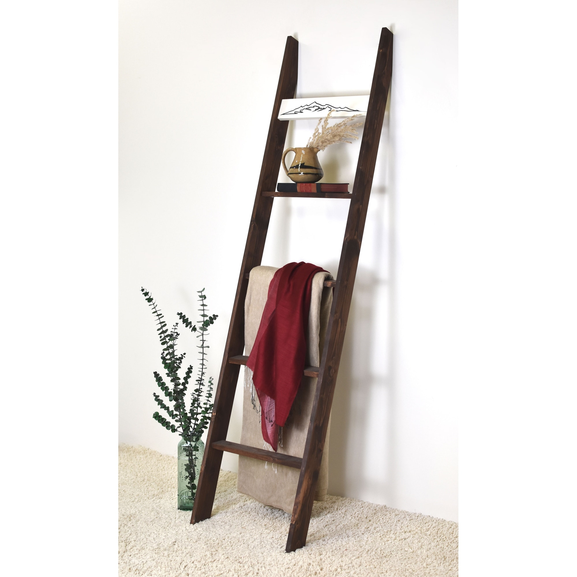 20ft Black Country Chic Decorative Blanket Ladder   Mountains ...