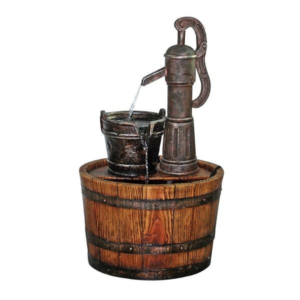 Design Toscano Cistern Well Pump Barrel Garden Fountain
