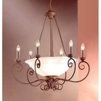 "Classic Lighting 40209 Portofino 9 Light 28"" Wide Single Tier Candle Style Chandelier"