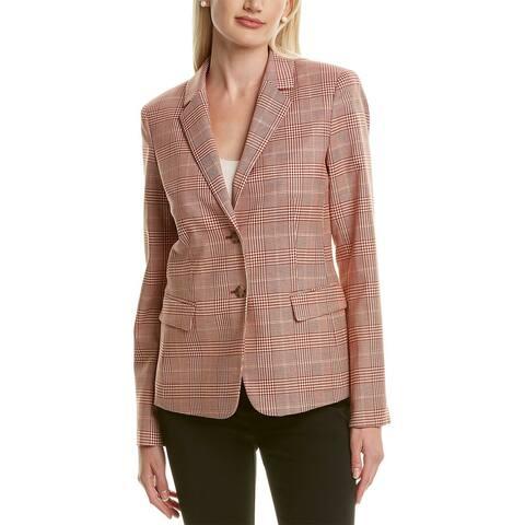 Lafayette 148 New York Thatcher Wool & Silk-Blend Blazer