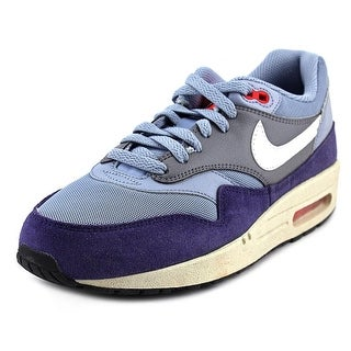 Nike Air Max 1 Essential Women Round Toe Leather Blue Sneakers