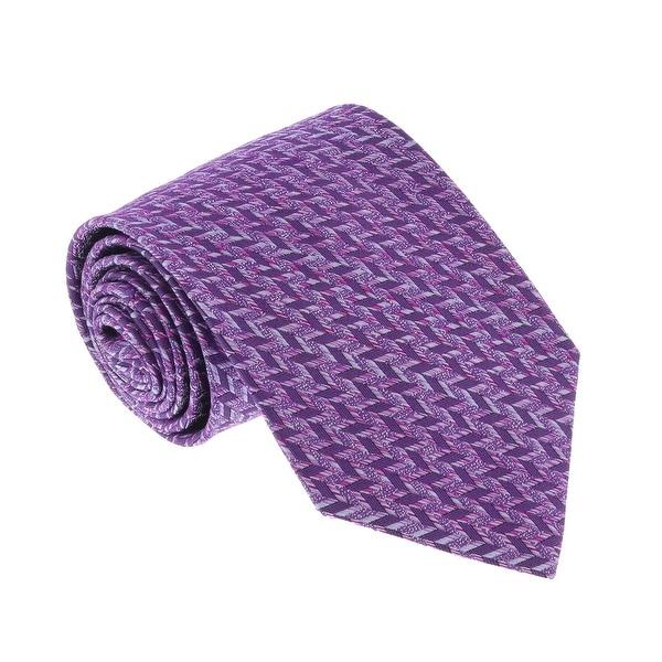 Missoni Grid Magenta Woven 100/% Silk Tie for mens