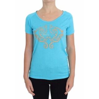 Versace Versace Blue Crew-neck Studded T-shirt - it38-xs