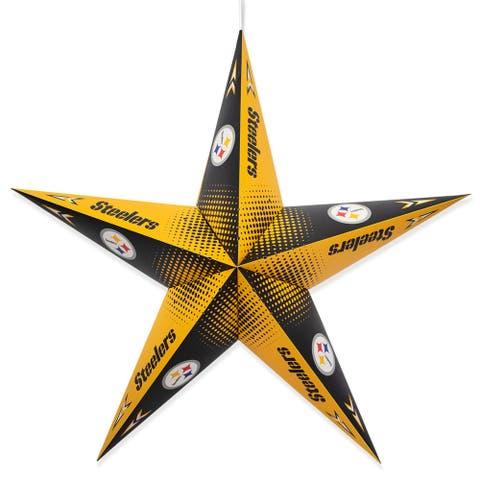 Little Earth NFL Licensed Paper Star Lantern, Pittsburgh Steelers - Multi-Color