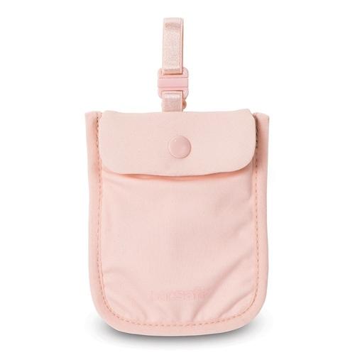 Pacsafe Coversafe S25-Orchid Pink Secret Bra Pouch w/ Adjustable Elastic Strap