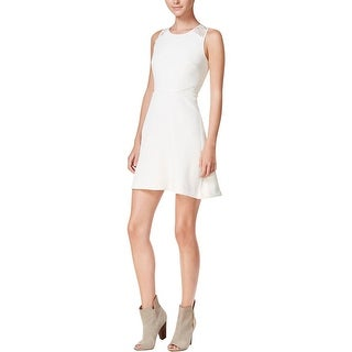 Kensie Womens Juniors Cocktail Dress Textured Lace Trim