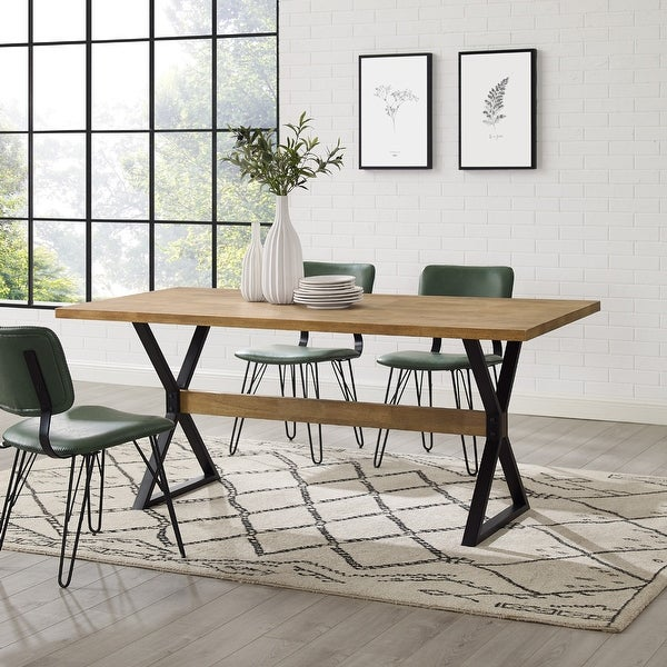 Carbon Loft 72-Inch X-Leg Dining Table. Opens flyout.