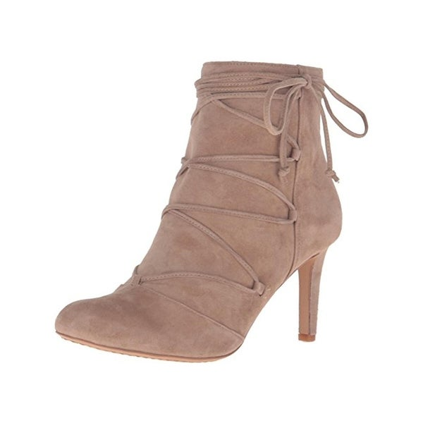 Vince Camuto Womens Chenai Ankle Boots Suede Front Tie - 6 medium (b,m)