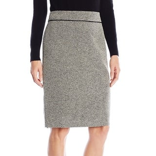 Kasper NEW White Ivory Black Women's Size 16 Tweed Knit Pencil Skirt