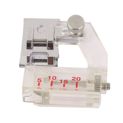 Unique Bargains Plastic Tape Binding Sewing Machine Presser Foot Adjusted Freely White